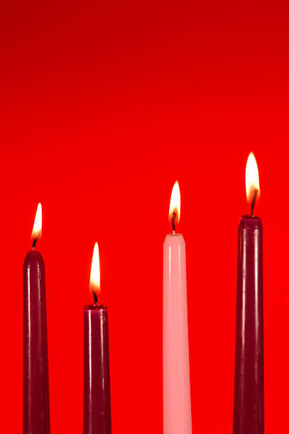 Advent Candle Week Four stock photo