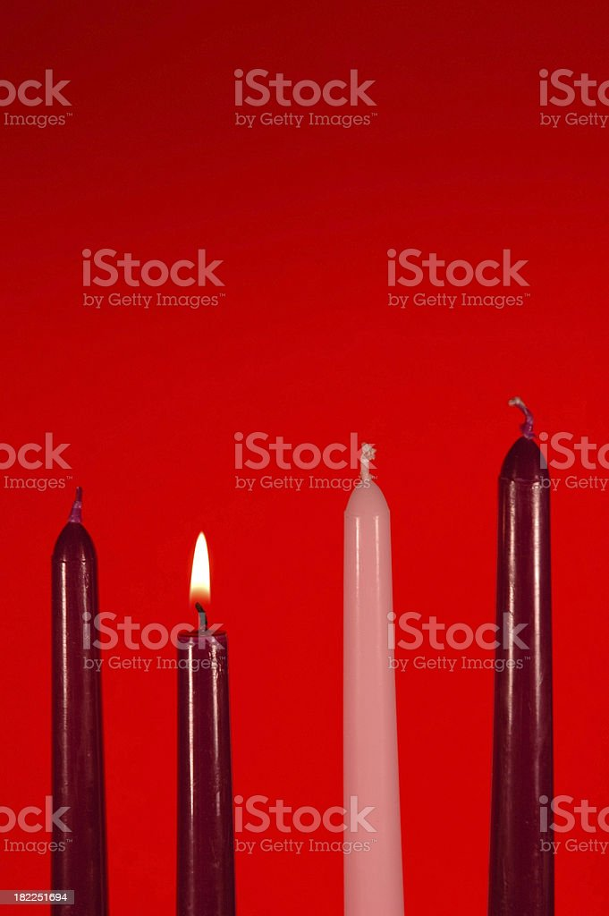 \'The first candle is lit to signify the first week of Advent, the...