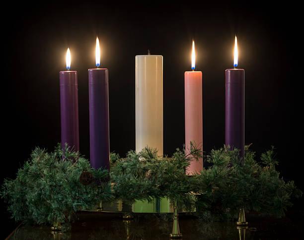 Advent candles stok fotoğrafı