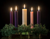 istock Advent candles 457830453