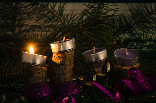 Advent Candles Stock Photo - Download Image Now