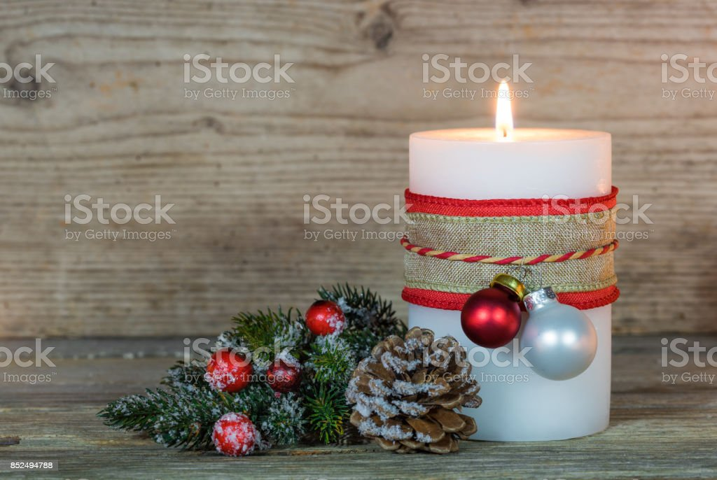 Advent Christmas Candle stock photo