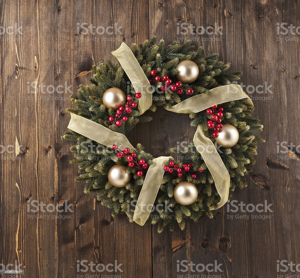 Advent Christmas wreath decoration royalty-free stock photo