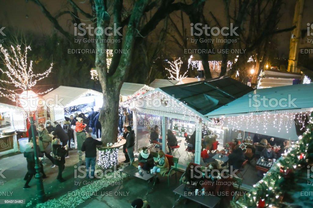 Advent in Zagreb Croatia 2017 stock photo