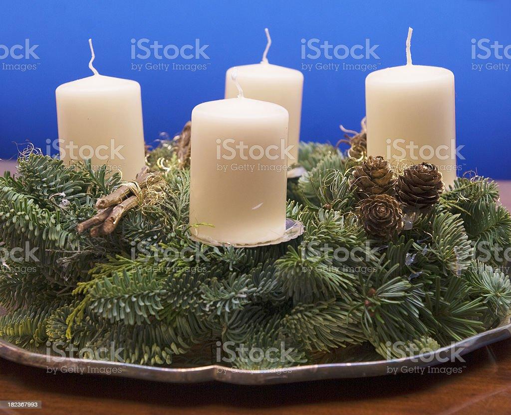 Advent wreath - Adventskranz royalty-free stock photo