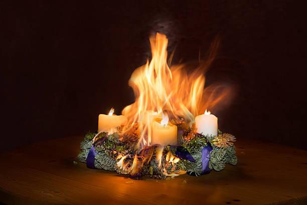 Advent Kranz Gefangene fire – Foto