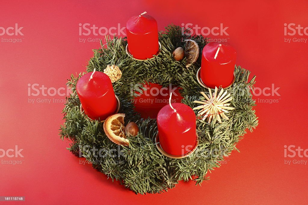 Advent wreath royalty-free stock photo