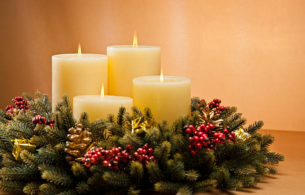 Advent wreath stock photo