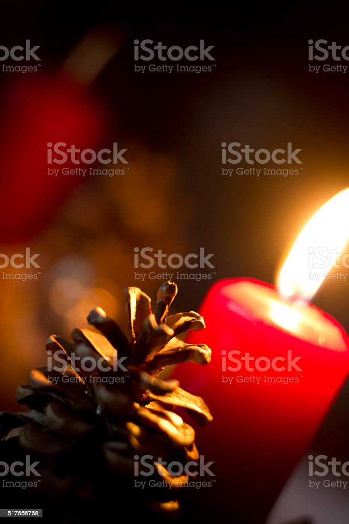 Advent's first lights stock photo