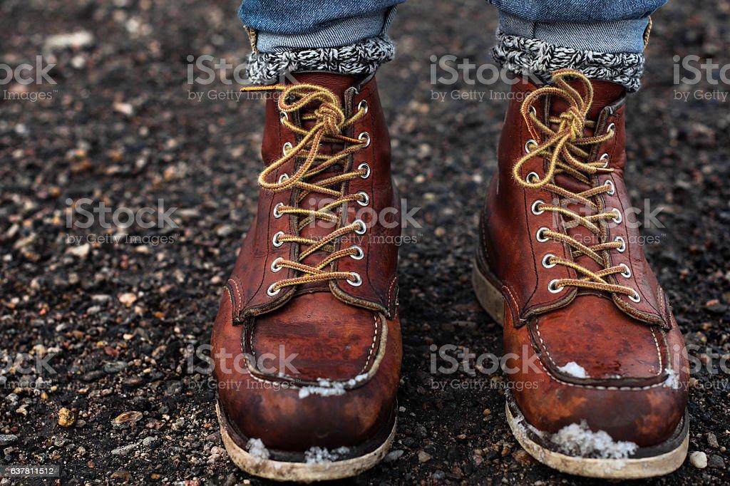 Adventure Boots stock photo