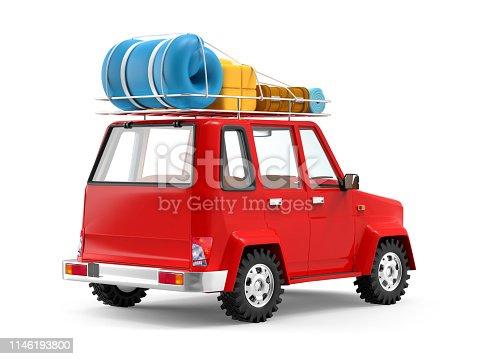 istock SUV adventure cartoon back 1146193800