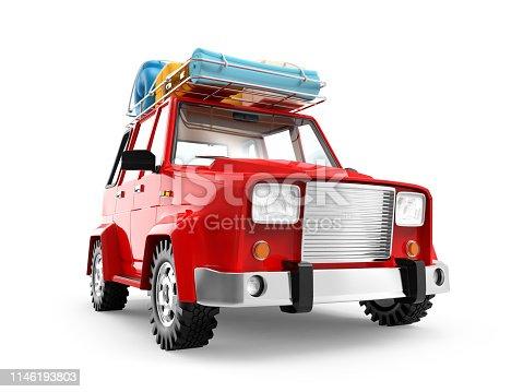 istock SUV adventure cartoon 1146193803