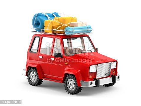 istock SUV adventure cartoon 1146193812