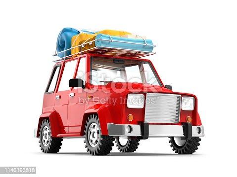 istock SUV adventure cartoon 1146193818