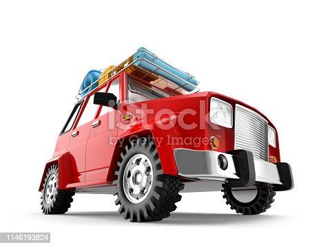 istock SUV adventure cartoon 1146193824