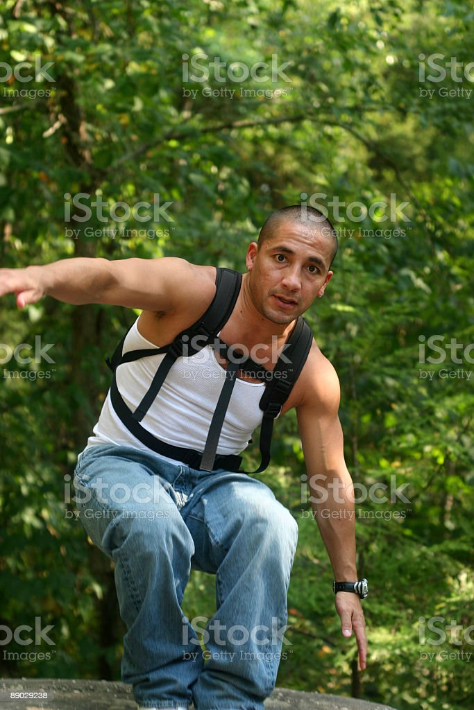 Adventure Guy royalty-free stock photo