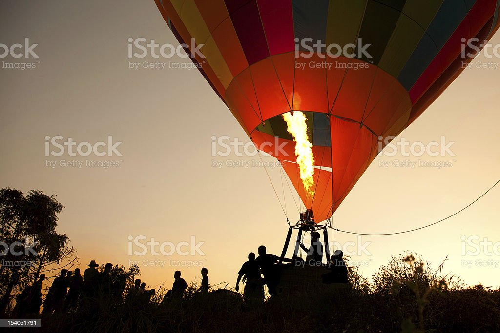 Adventure Hot air balloon royalty-free stock photo