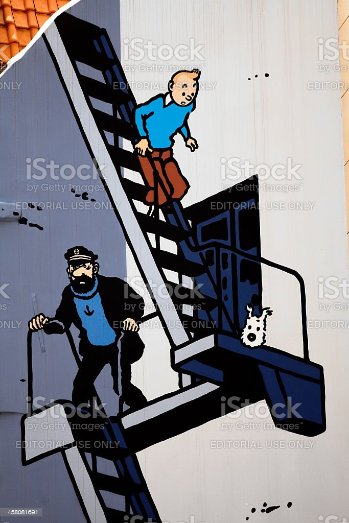 Adventure in Brussels  with Tintin stock photo