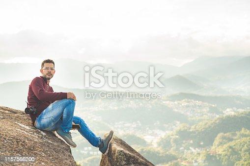 Extreme Sports, Hiking, Mountain Peak, Men, Day