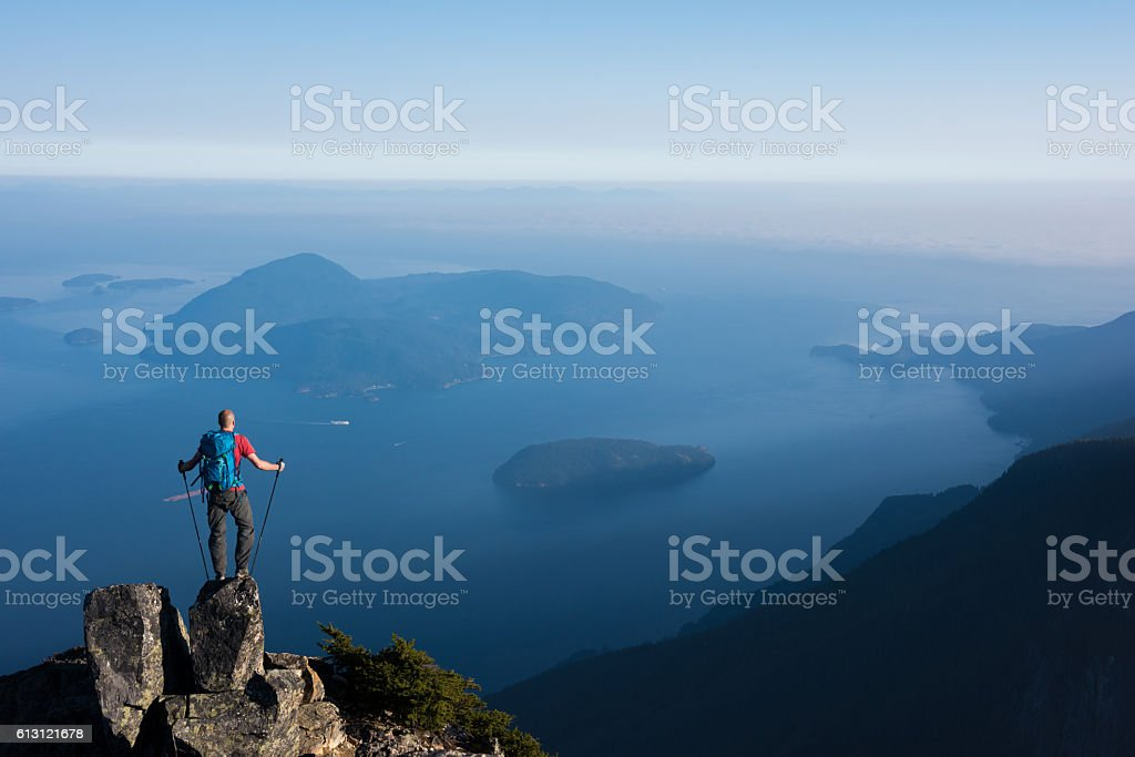 Adventure in the mountains stock photo