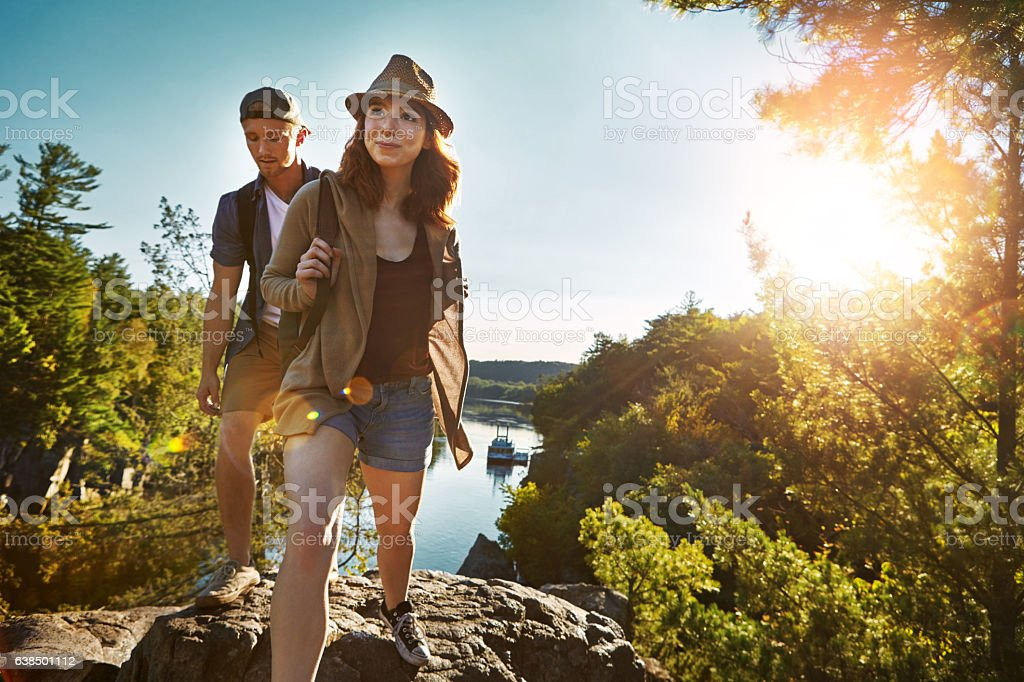 Adventure is worthwhile in itself stock photo