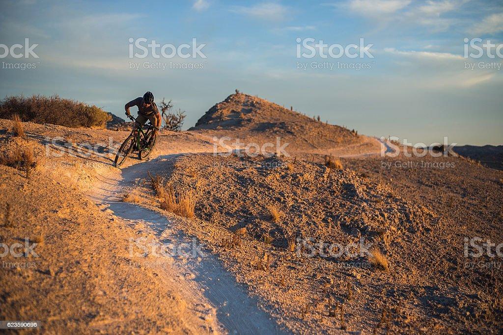 adventure man fitness desert landscape stock photo
