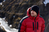 istock Adventure man trekking portrait 491712802