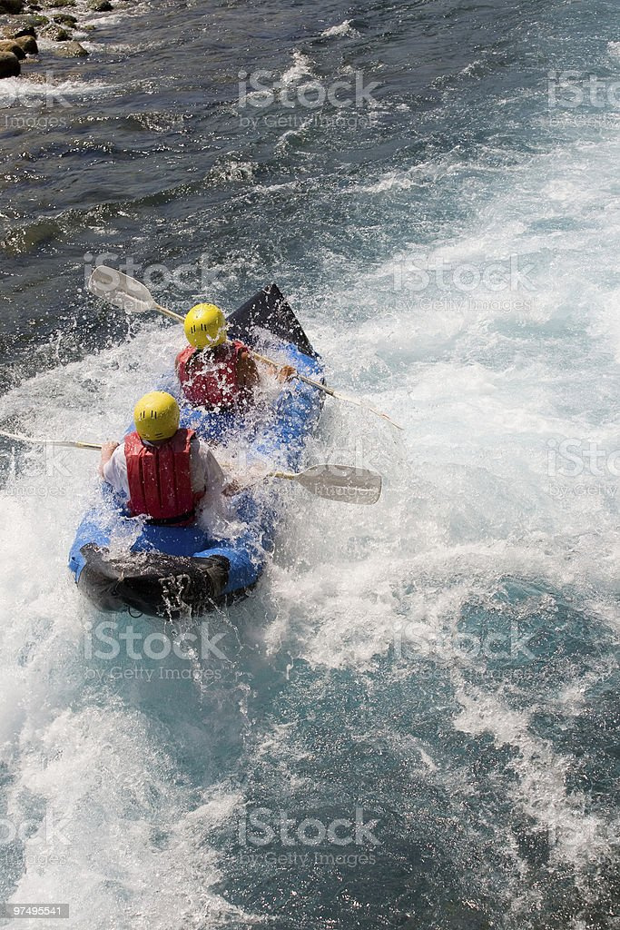 Adventure on the river royalty-free stock photo
