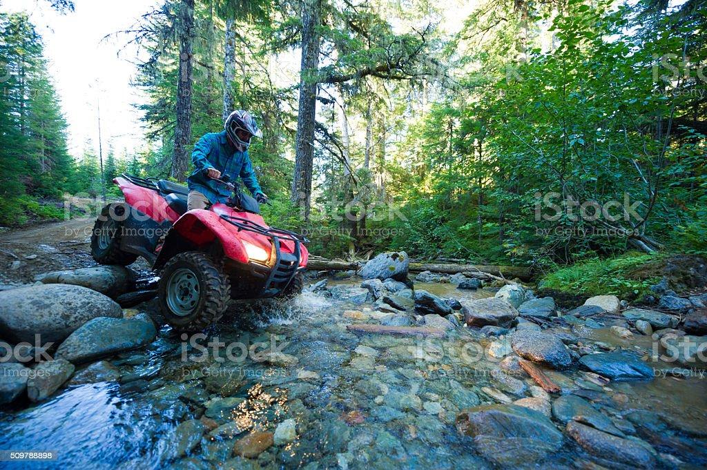 ATV adventure stock photo