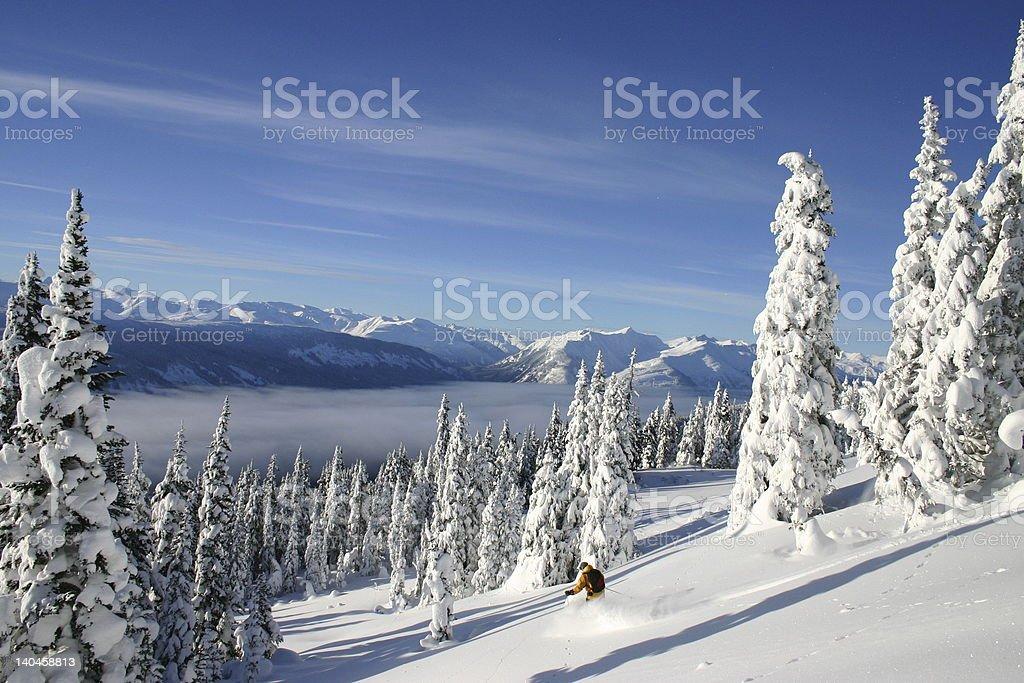 Adventure Skiing royalty-free stock photo
