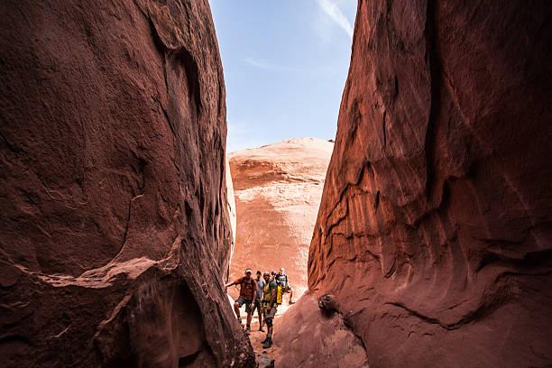 adventure team stock photo