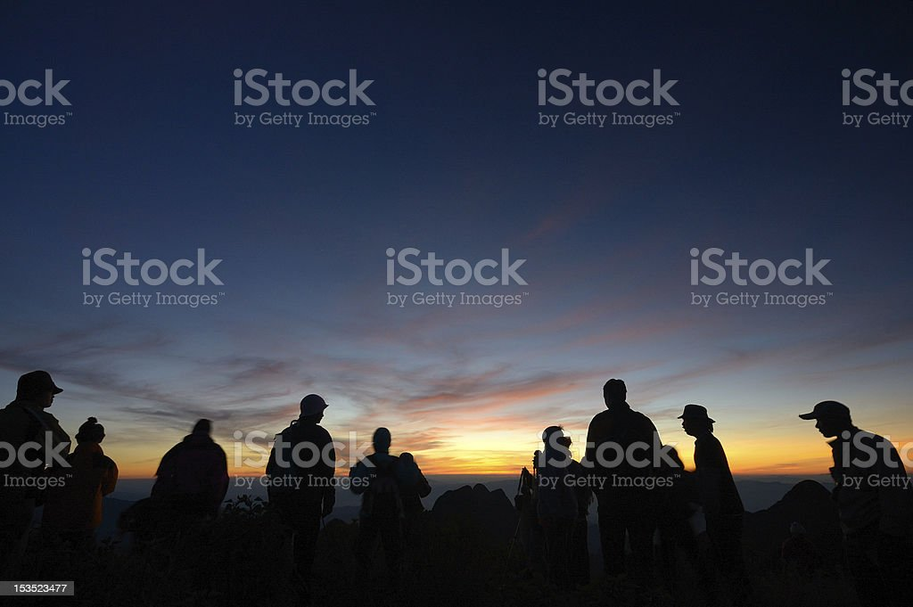 Adventure travel up hill royalty-free stock photo