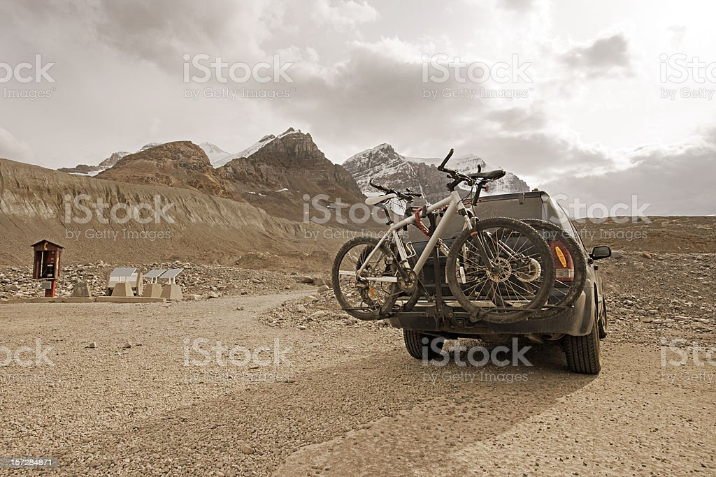 Adventure Trip in the Mountains royalty-free stock photo