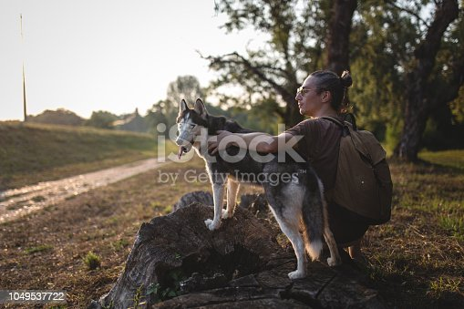 istock Adventure with man`s best friend 1049537722
