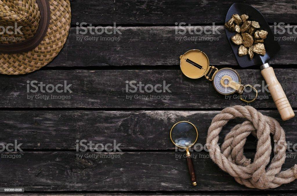 Adventurer table. stock photo