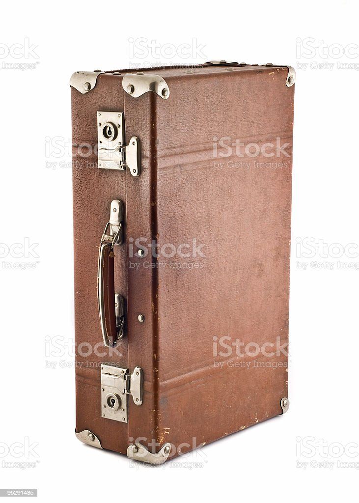 Adventures and travel - old-fashioned trunk royalty-free stock photo