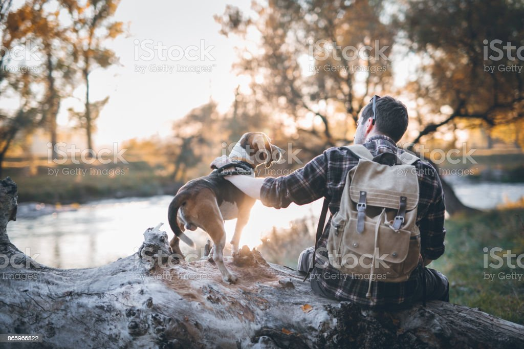 Adventures by the river stock photo