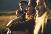 Adventures on the Dolomites: teenagers hiking