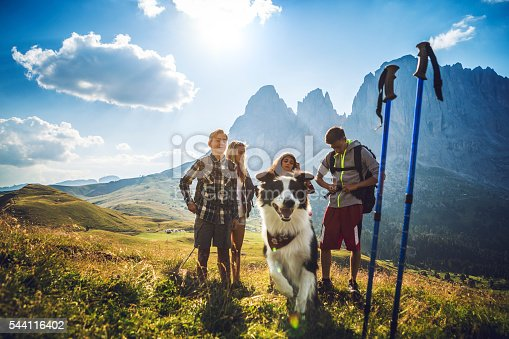 istock Adventures on the Dolomites with dog 544116402