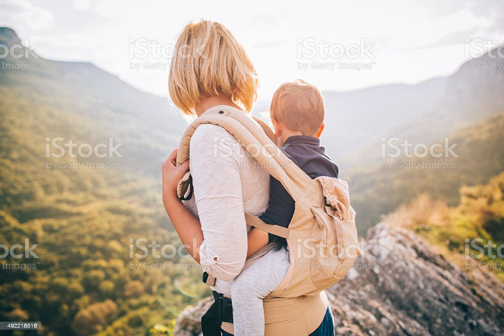 Adventurous family stock photo