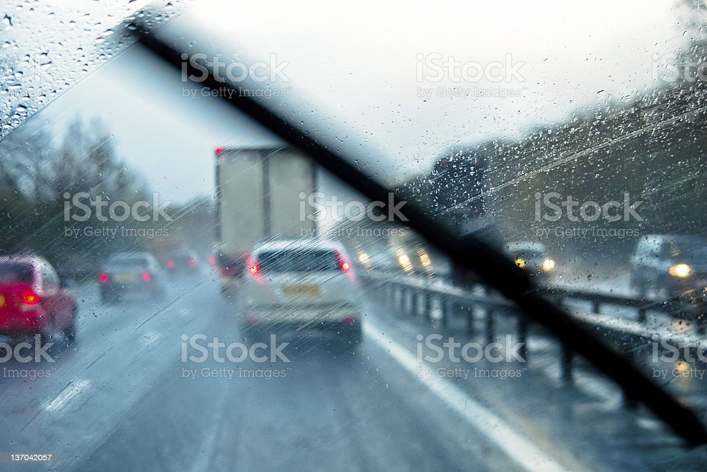 Widrige Driving Geschäftsbedingungen - Lizenzfrei Auto Stock-Foto