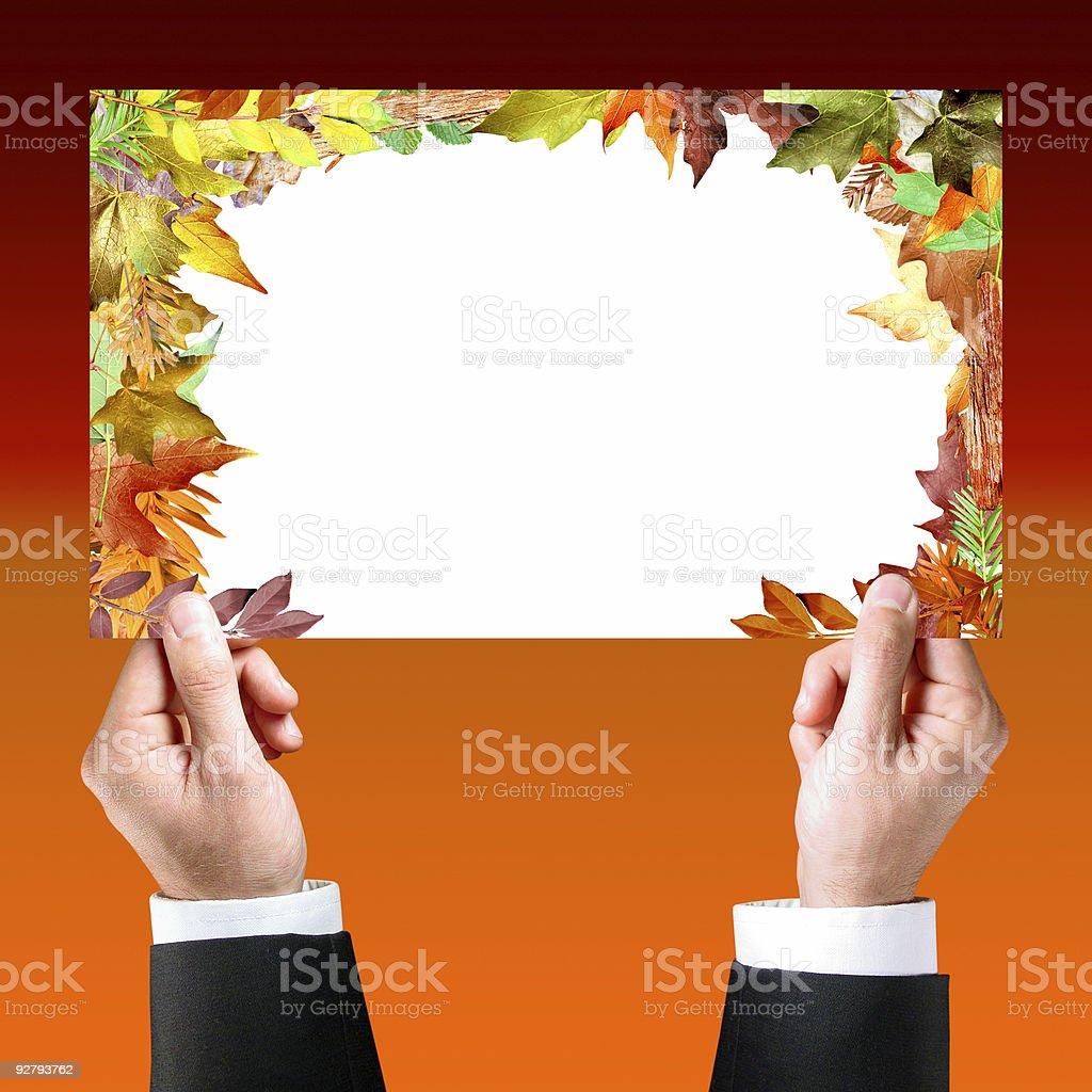 Advertise here (Autumn/Fall) stock photo