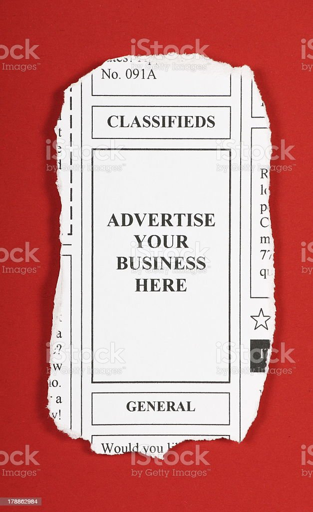 Advertise Your Business Here royalty-free stock photo
