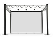 advertisement Exhibition stand, high resolution 3d render