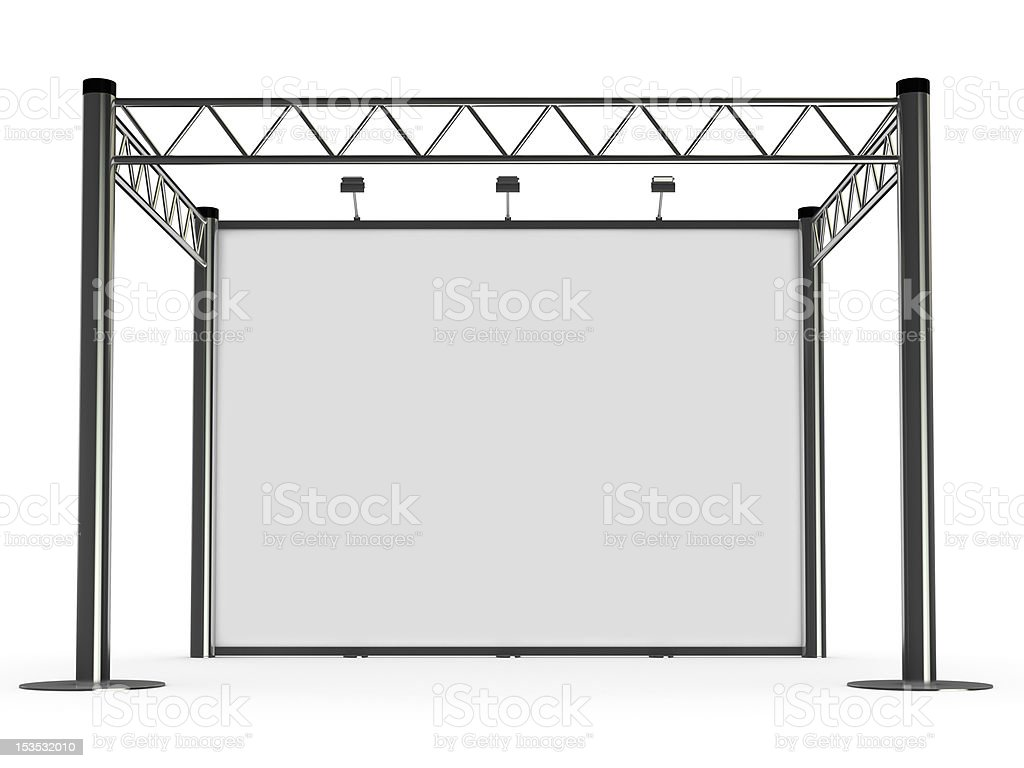 advertisement Exhibition stand stock photo