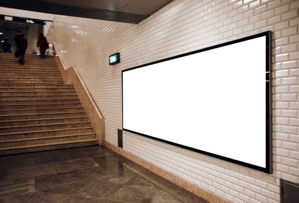 Advertisement panel Advertisement panel at an underground station electronic billboard stock pictures, royalty-free photos & images