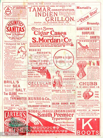 1070355804 istock photo Advertisements from Punch magazine, 1897 507801548