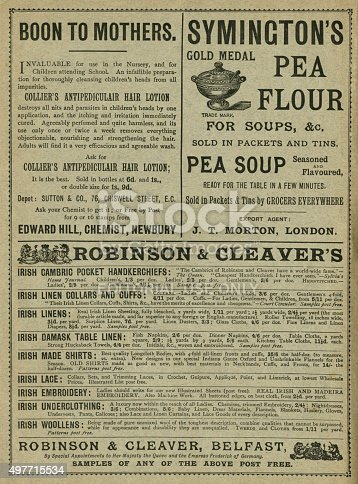 1070355804 istock photo Advertisements from the late 1890s 497715534