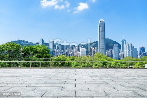 istock Advertising backplate, Hong Kong 1095237484
