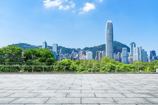 istock Advertising backplate, Hong Kong 1095237484